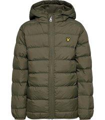 lightweight puffa jacket fodrad jacka grön lyle & scott junior