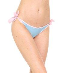 calcinha amber string ester azul/rosa - kanui