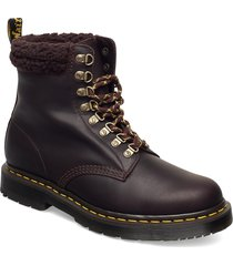 1460 collar cocoa+dark brown snowplow wp+borg fleece shoes boots ankle boots ankle boot - flat brun dr. martens