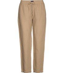 d2. summer linen pull-on pant pantalon met rechte pijpen beige gant
