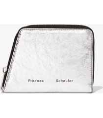 proenza schouler trapeze zip wallet silver/grey one size