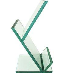 revisteiro escher de vidro pequeno vidrotec branco - branco - dafiti