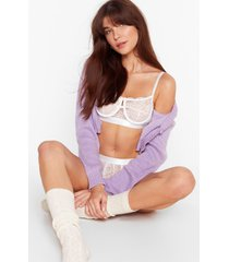 womens cupped design lace bralette and panty set with mesh back - white