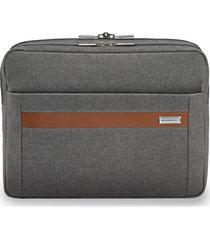 men's briggs & riley kinzie street micro messenger bag - grey