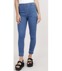 calça feminina sawary jogger com bolsos azul médio