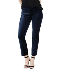 colette velvet crop jeans