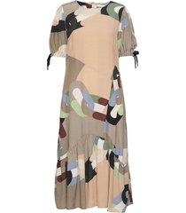 assymmetrical dress in chain print dresses everyday dresses multi/mönstrad coster copenhagen