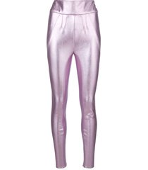 1017 alyx 9sm metallic high-rise leggings - pink