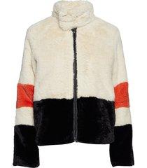 hettie jacket outerwear faux fur multi/mönstrad second female