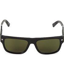 56mm square browline sunglasses