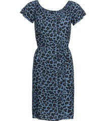 abito con spalle scoperte leopardato (blu) - rainbow