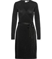 dubbisz ls dress dresses wrap dresses svart saint tropez