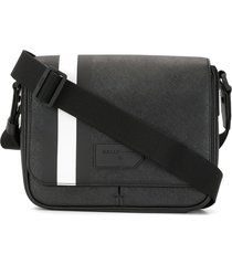 bally cross body messenger bag - black