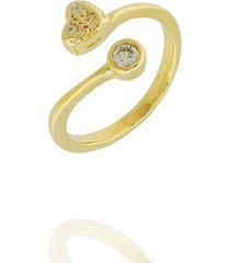 anel dona diva semi joias falange coração