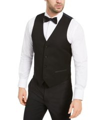 alfani men's slim-fit stretch black tuxedo vest, created for macy's