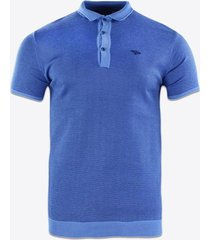polo shirt korte mouw gabbiano denim 61069 poloshirt blue