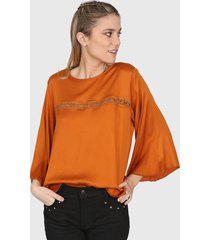 blusa marrón nano valeria 0820