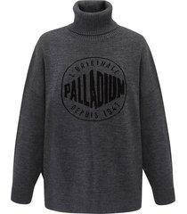 194149-060 | round logo sweater | grey - l