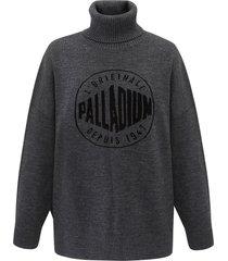 194149-060 | round logo sweater | grey - s