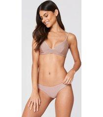 fayt eli bikini bottoms - pink,nude