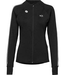 marit midlayer sweat-shirts & hoodies fleeces & midlayers svart kari traa