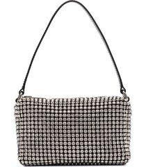 alexander wang medium wangloc rhinestone-embellished clutch bag -