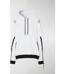 burberry swan print hoodie