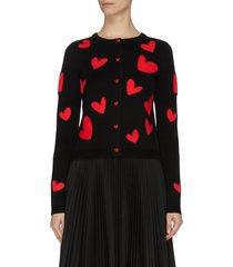 'ruthy' heart patch cardigan