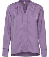 pzhattie blouse blus långärmad lila pulz jeans