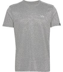 basic t small logo t-shirts short-sleeved grå alpha industries