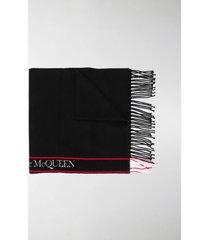 alexander mcqueen wool-cashmere blend scarf