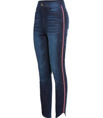 jeans super skinny cropped con glitter (blu) - rainbow