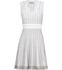 d.exterior lurex striped dress