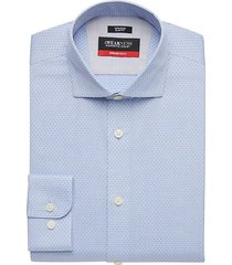 awearness kenneth cole men's awear-tech blue check slim fit dress shirt - size: 17 1/2 32/33
