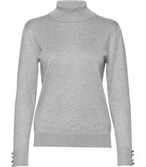 pullover-knit light turtleneck polotröja grå brandtex
