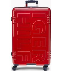 "tommy hilfiger women's 28"" signature spinner suitcase red -"