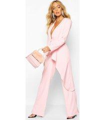 premium asymetric blazer, pink