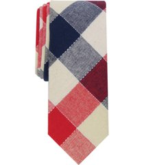 bar iii men's davis check slim tie, created for macy's