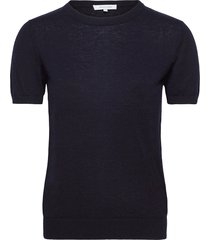 josefa sl knitted top t-shirts & tops knitted t-shirts/tops blauw andiata