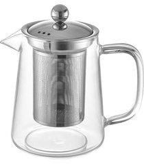 bule para chá em vidro e aço inox com infusor 800ml