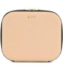 0711 tan large ela cosmetic bag - neutrals