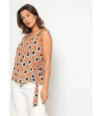 blusa com amarração operate feminina - feminino