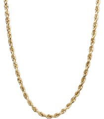 "14k gold necklace, 18"" rope chain (1-3/4mm)"