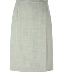 jean louis scherrer pre-owned a-line skirt - grey