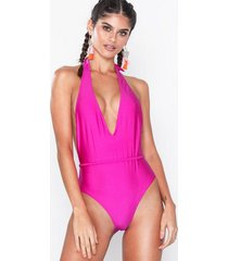 south beach pink shimmer swimsuit baddräkter