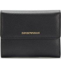 emporio armani women's frida bifold wallet - black/red