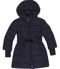 monnalisa all-over hearts padded coat