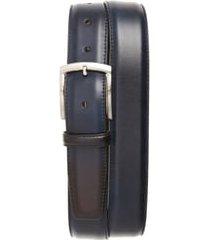men's magnanni tanner leather belt, size 38 - navy