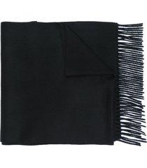 alexander mcqueen cashmere scarf - black