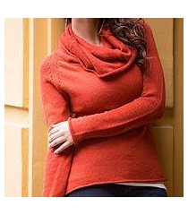 cotton and alpaca sweater, 'sunny warmth' (peru)